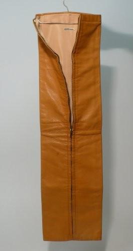 63e7513a3d47 HERMES Paris Original porte-cravates en cuir moutarde