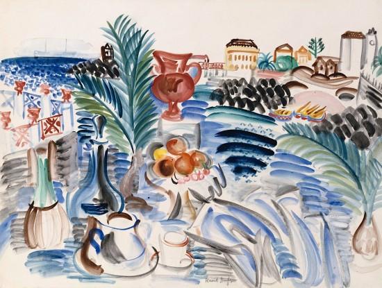 Raoul DUFY (Le Havre, 1877-Forcalquier,1953) NATURE MORTE EN SICILE, 1922