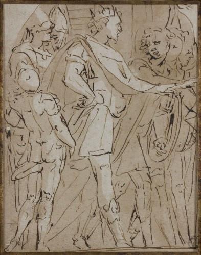Attribué à Lazzaro Tavarone Gênes, 1556 - 1641 Scène de l'histoire ancienne...