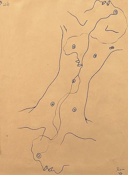 5e625d458f4 Jean COCTEAU (1889-1963) ETUDE POUR LE LIVRE BLANC