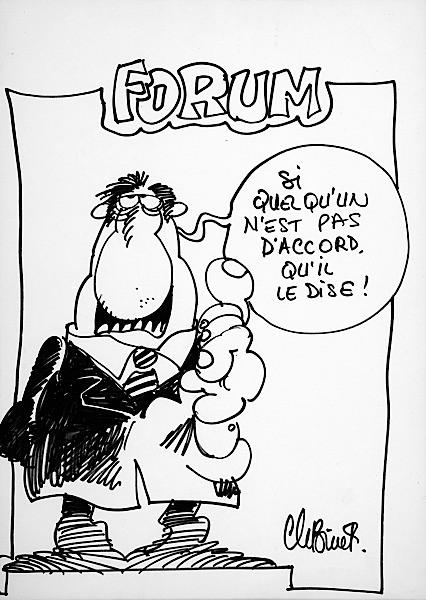 null sale n 1063 lot n 444 artcurial Si Tan Solo Tocare binet forum feutre noir pour un dessin humoristique