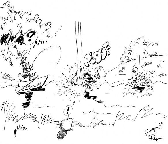 PEYO Pierre Culliford dit (1928-1992) & FRANQUIN André (1924-1997) GASTON...