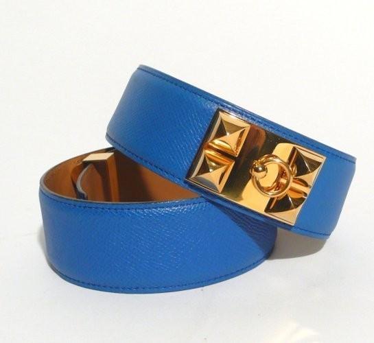 ... cuir couchevel bleu jean. HERMES made in france. Ceinture 2ae832cdc83