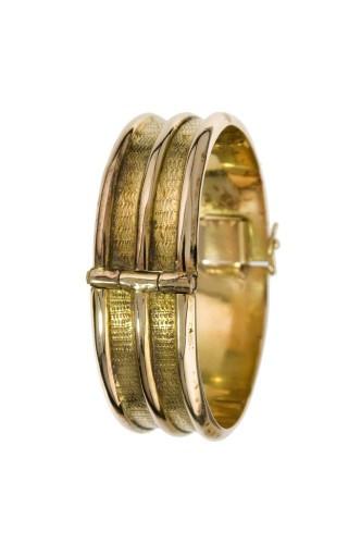 Golden bronze Jonc bracelet