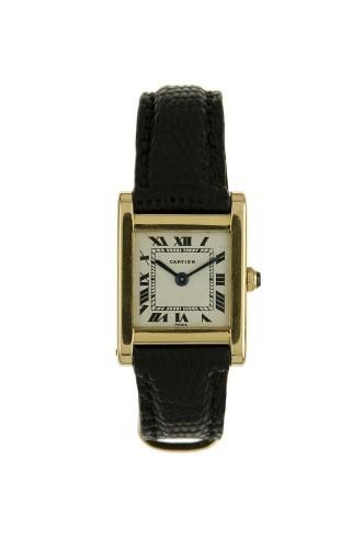 7b788b3eca1 CARTIER TANK N°55409 vers 1950 Rare et belle montre bracelet rectangulaire  en or