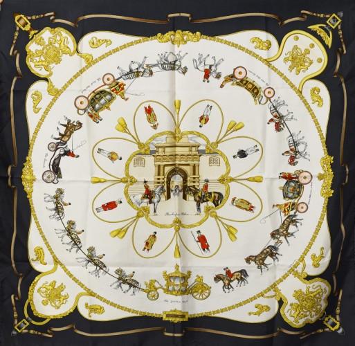 HERMES Paris made in france Rare carré en soie imprimée, titré 4c86d8877f1