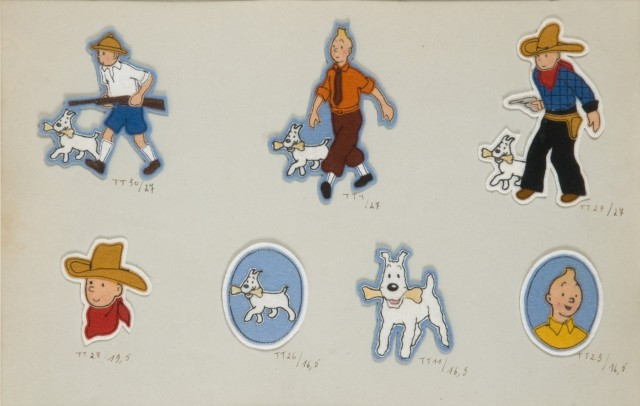 Papier Peint Tintin Et Milou bandes dessinées « l'univers du créateur de tintin » | vente n°1874