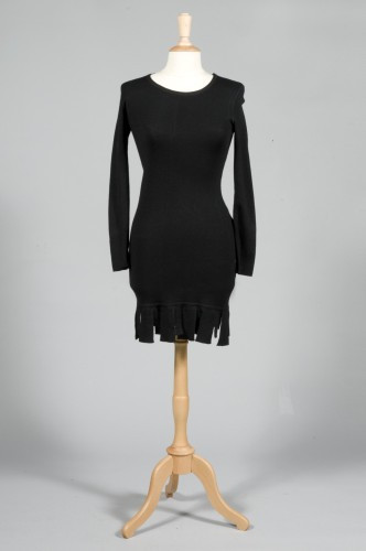 37cc8dec1df2f Jacobson ENSEMBLE en jersey de laine noir comprenant une robe à