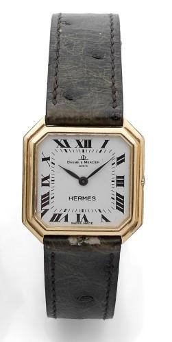 64ea31bac02f BAUME   MERCIER HERMES CEINTURE n° 593292 vers 1970 Belle montre bracelet  octogonale en