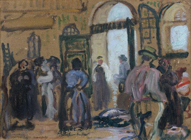 Raoul DUFY (Le Havre, 1877-Forcalquier,1953) LE MARCHE AUX POISSONS, 1903-1904