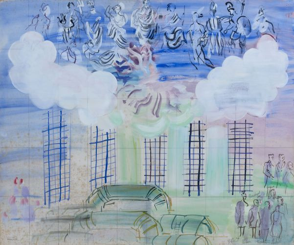 Raoul DUFY (Le Havre, 1877-Forcalquier,1953) ETUDE POUR LA FEE...