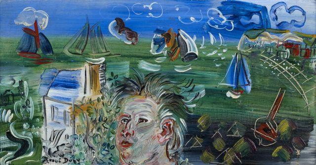 Raoul DUFY (Le Havre, 1877-Forcalquier,1953) AUTOPORTRAIT A SAINTE-ADRESSE...