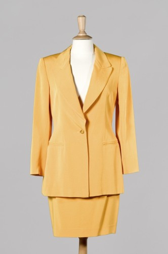 Veste blazer jaune poussin