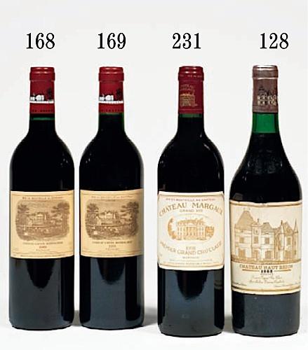 8 bouteilles CHÂTEAU LAFITE ROTHSCHILD 1991 1er GC Pauillac (photo)