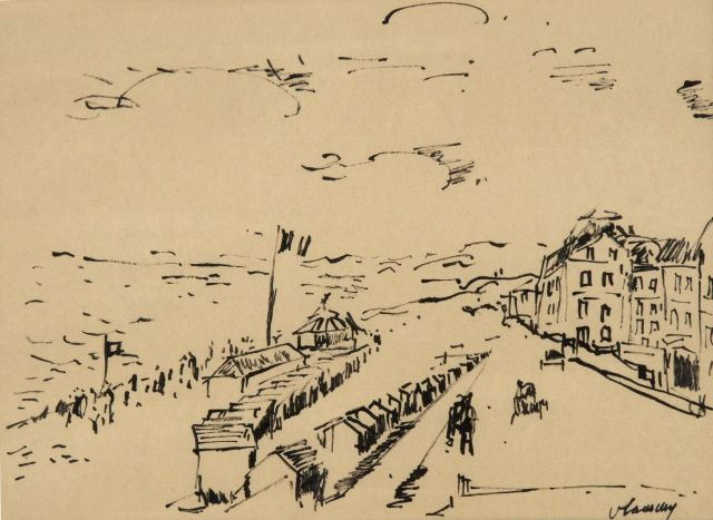 Maurice de VLAMINCK (Paris, 1876-1958) PLAGE NORMANDE, LA PROMENADE ET LES...