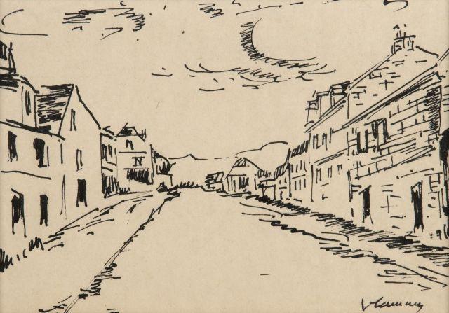 Maurice de VLAMINCK (Paris, 1876-1958) NORMANDIE, RUE DE VILLAGE