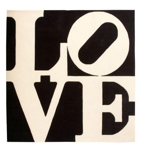 D'après Robert INDIANA (né en 1928) WHITE ON BLACK LOVE, 1955