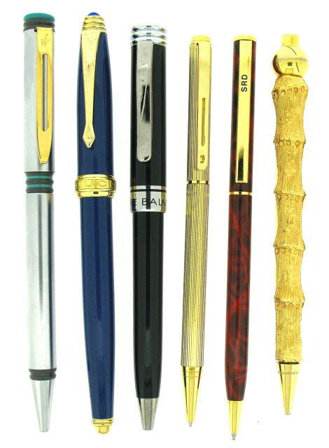 46b862734eb LOT Six stylos bille divers   Waterman