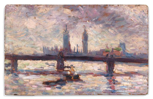 Maximilien LUCE (Paris, 1858 - Paris, 1941) LONDRES, LES MAISONS DU...
