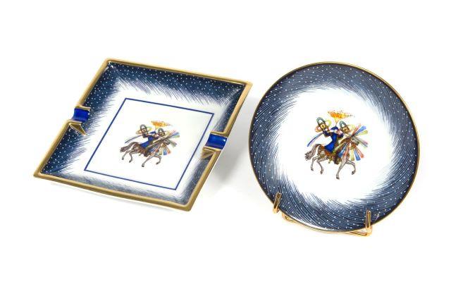HERMES Paris made in france Cendrier en porcelaine créé à l occasion du  150ème anniversaire d8bf1865679