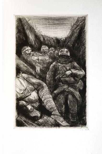 1d541df7d36b Roland Dorgeles, LES CROIX DE BOIS, 9 etchings, or wood blocks on