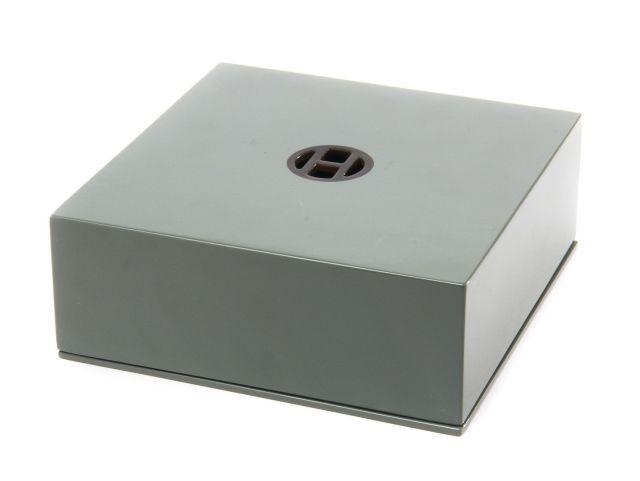 HERMES Paris made in france Boîte en bois laqué gris avec un 1e2094bf6cf