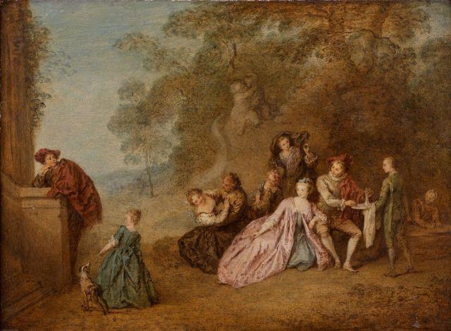 Jean-Baptiste Pater Valenciennes, 1695 - Paris,1736 L'Amour et le Badinage