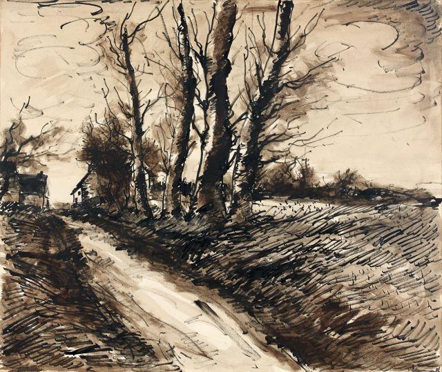 Maurice de VLAMINCK (Paris, 1876 - Rueil-la-Gadelière, 1958) ROUTE DE CAMPAGNE