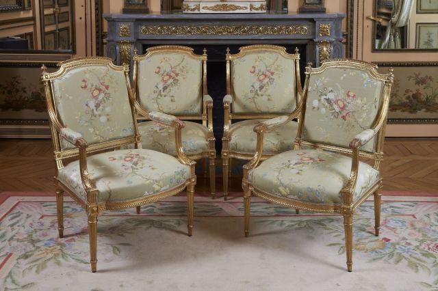 Salon Style Louis 16 le crillon 1/5 | sale n°2375 | lot n°77 | artcurial