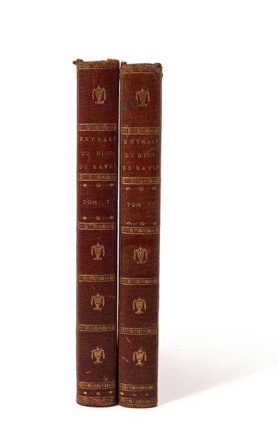 6ab7f2b382f8  Pierre BAYLE  Extrait du Dictionnaire historique et critique de Bayle.  Divisé en deux