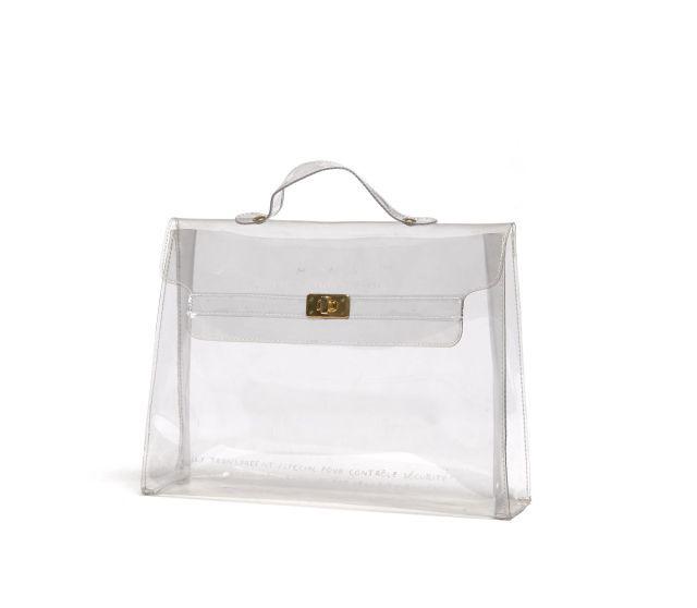 83323bde4f7 Sac en plastique transparent de forme