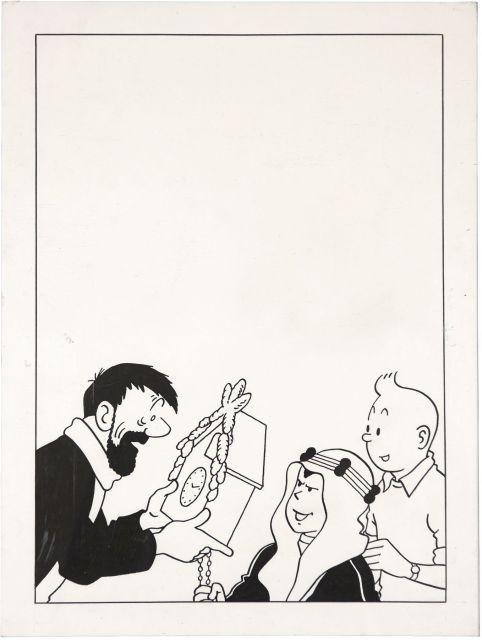 Papier Peint Tintin Et Milou the universe of the creator of tintin | sale n°2546 | lot n°45