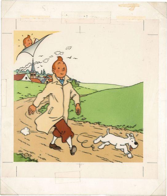 Papier Peint Tintin Et Milou the universe of the creator of tintin | sale n°2546 | lot n°29
