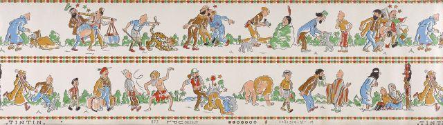 Papier Peint Tintin Et Milou l'univers du créateur de tintin | vente n°2546 | lot n°340 | artcurial