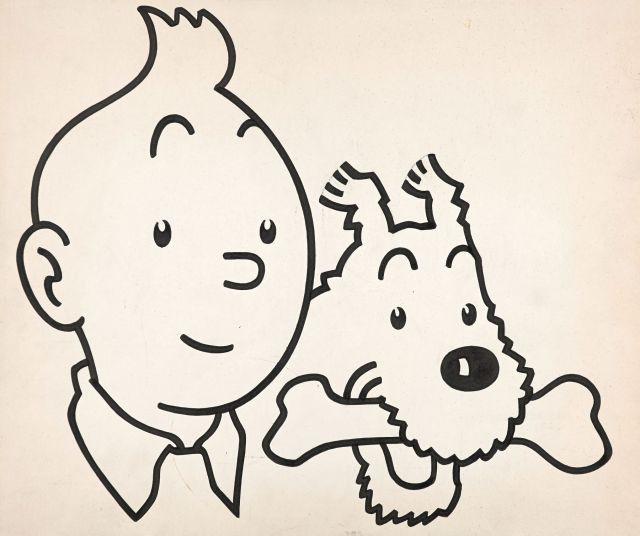 Papier Peint Tintin Et Milou the universe of the creator of tintin | sale n°2546 | lot n°34