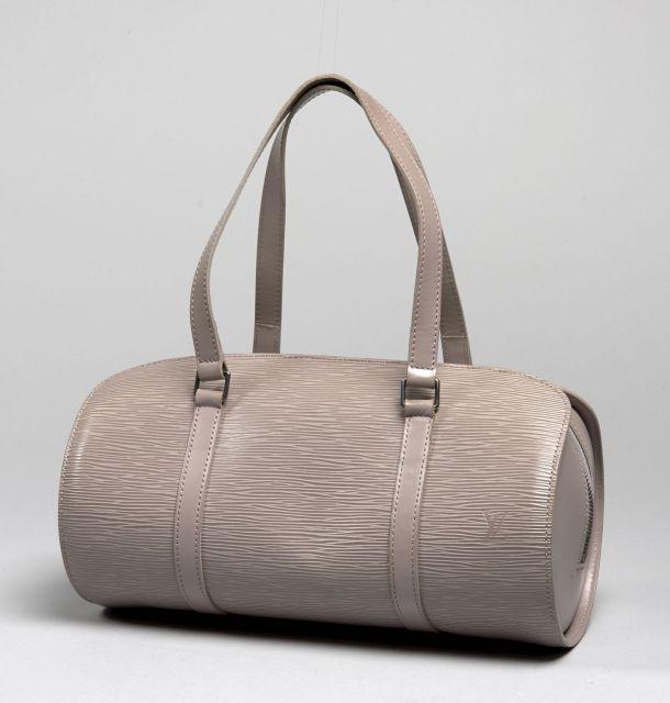 69954580938f Louis VUITTON, Soufflot en cuir épi lilas, deux anses à la couleur,  intérieur