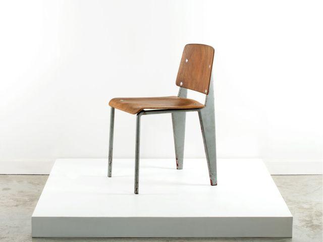 Jean PROUVE 1901 1984 Prototype De Chaise Dite