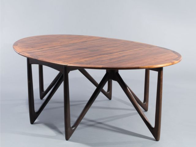 niels koefoed table de salle manger ovale deux abattants latraux mod 304 - Table A Manger Ovale