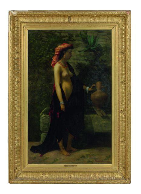 Paul-Désiré Trouillebert Paris, 1829 - 1900 Rebecca à la fontaine
