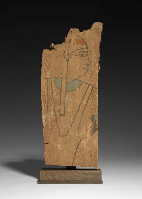 PANNEAU DE SARCOPHAGE EN BOIS PEINT, ÉGYPTE, BASSE ÉPOQUE, 664-332 AV.J.C.