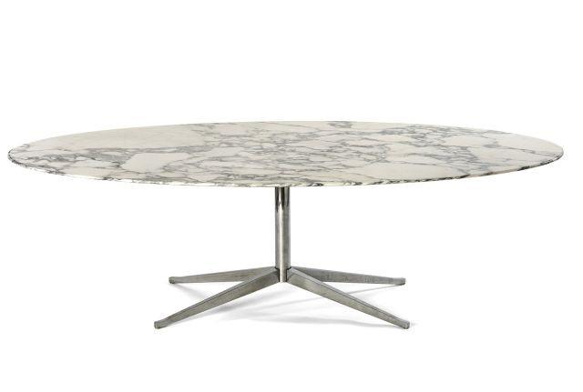 Florence knoll née en 1917 table ovale mod