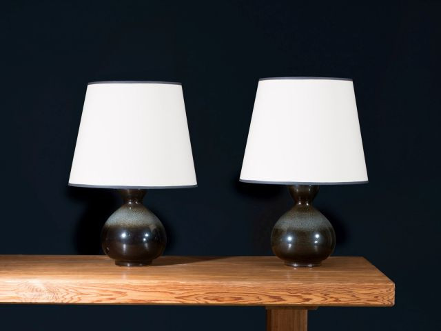 Axel SALTO (1889-1961) Paire de lampes de table - 1944