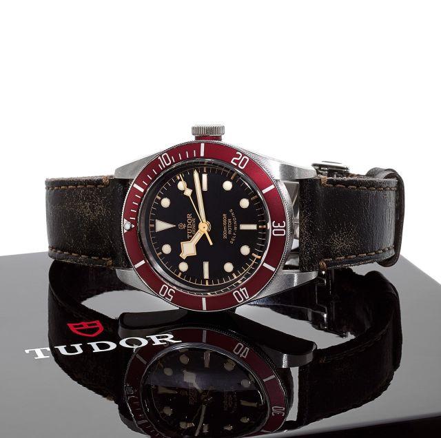 tudor black bay bracelet cuir
