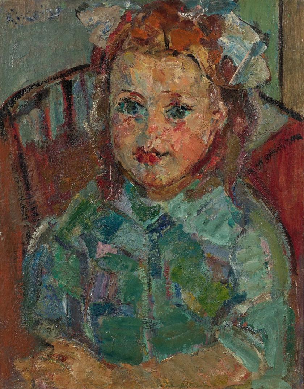 64a64acd99c Michel KIKOINE 1892 - 1968 PETITE FILLE - Circa 1945-1950 Huile sur toile