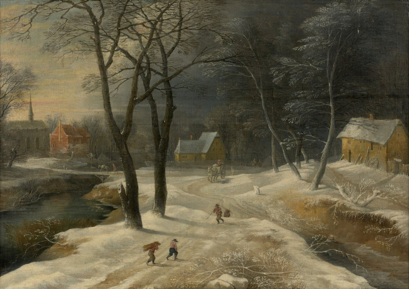Old master 19th century paintings and drawings sale n for Paris paysage