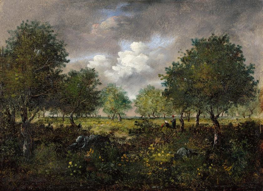 Narcisse Diaz de la Pena Bordeaux, 1807 - Menton, 1876 Clairière animée de...