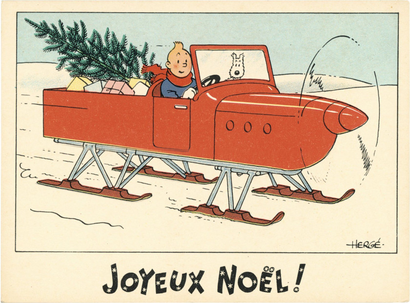 Carte Image Noel.The Universe Of The Creator Of Tintin Sale N 3006 Lot N