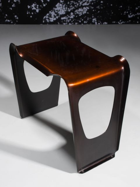 Charlotte PERRIAND (1903-1999) Rare guéridon empilable dit