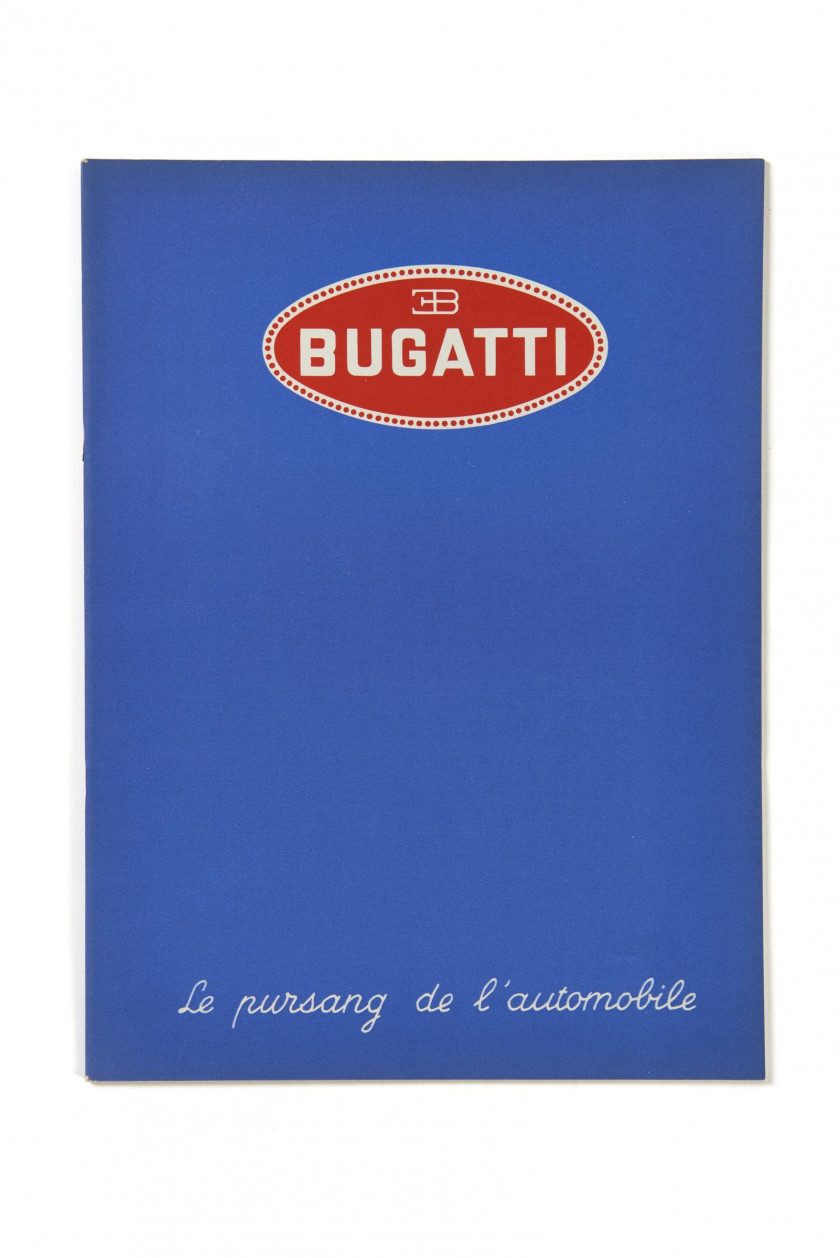 BUGATTI  Le Pur-Sang de l'Automobile - catalogue de 1937