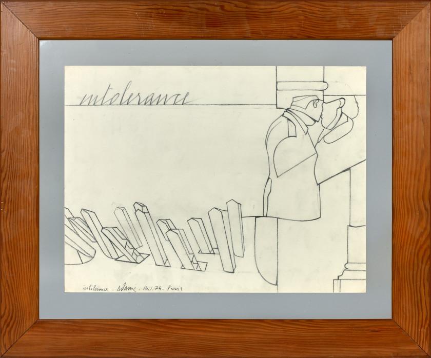 Valerio ADAMI (Né en 1935) INTOLERANCE - 1974